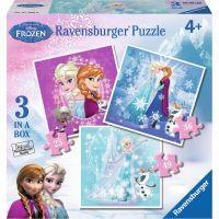 Ravensburger Disney Ľadové kráľovstvo 3 x