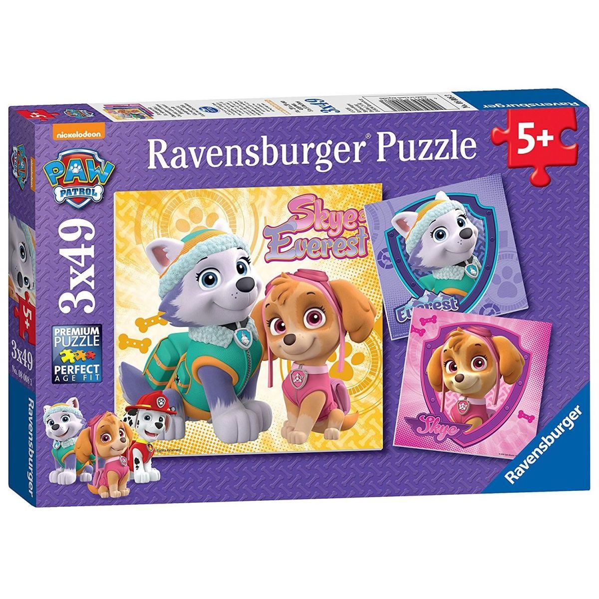 Ravensburger Puzzle Disney Tlapková patrola 3 x 49 dielikov