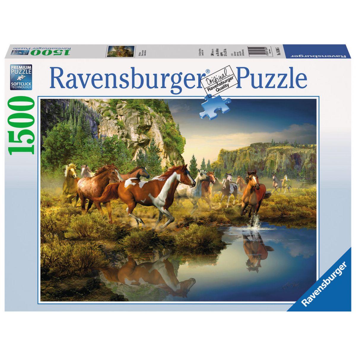 Ravensburger Divoké kone 1500 dílků