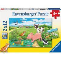 Ravensburger Domácí zvířátka 2 x 12 dílků