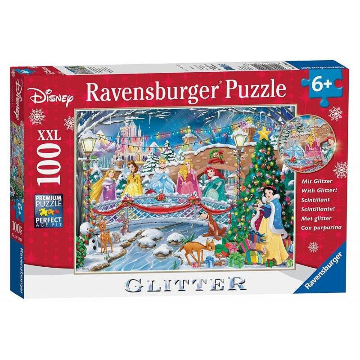 Ravensburger Glitter 107940 Disney Princezny: Vánoce 100 dílků