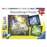 Ravensburger Krásni Jednorožci 3 x 49 dielikov