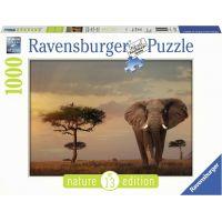 Ravensburger puzzle Nature Edícia 151592 Slony v národnom parku Massai Mara 1000 dielikov 2