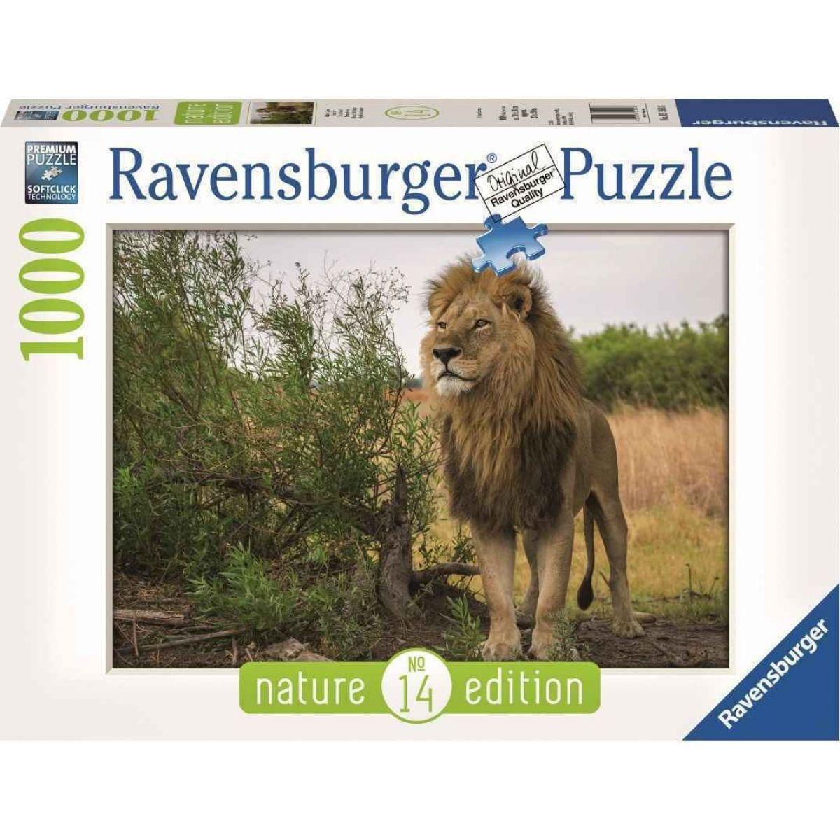 Ravensburger puzzle Nature Edícia 151608 Hrdí levy 1000 dielikov