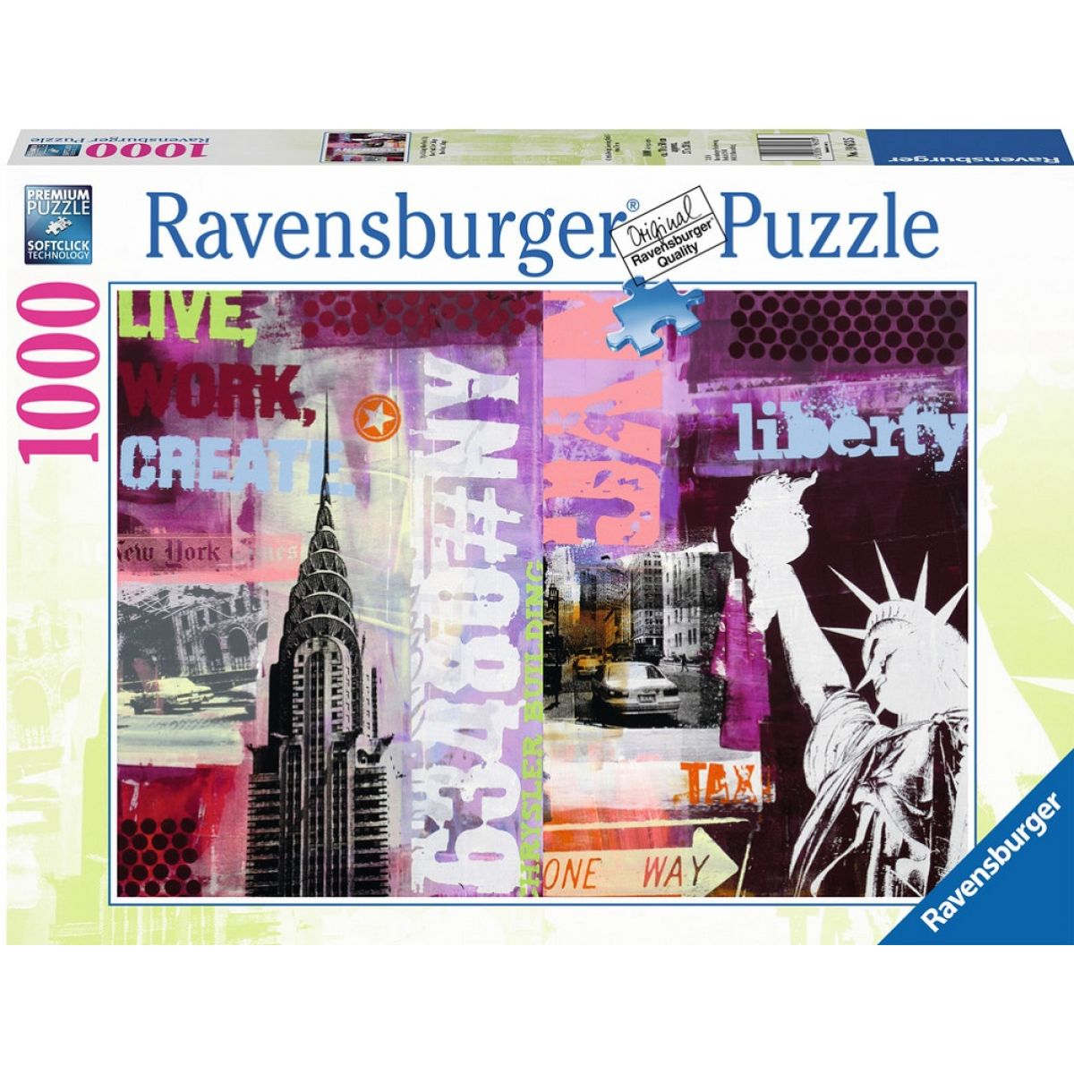 Ravensburger Style Collage New York City 1000 dielov