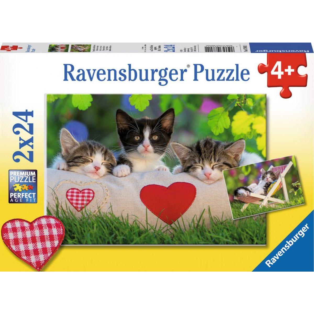 Ravensburger Ospalá mačiatka 24 dielikov