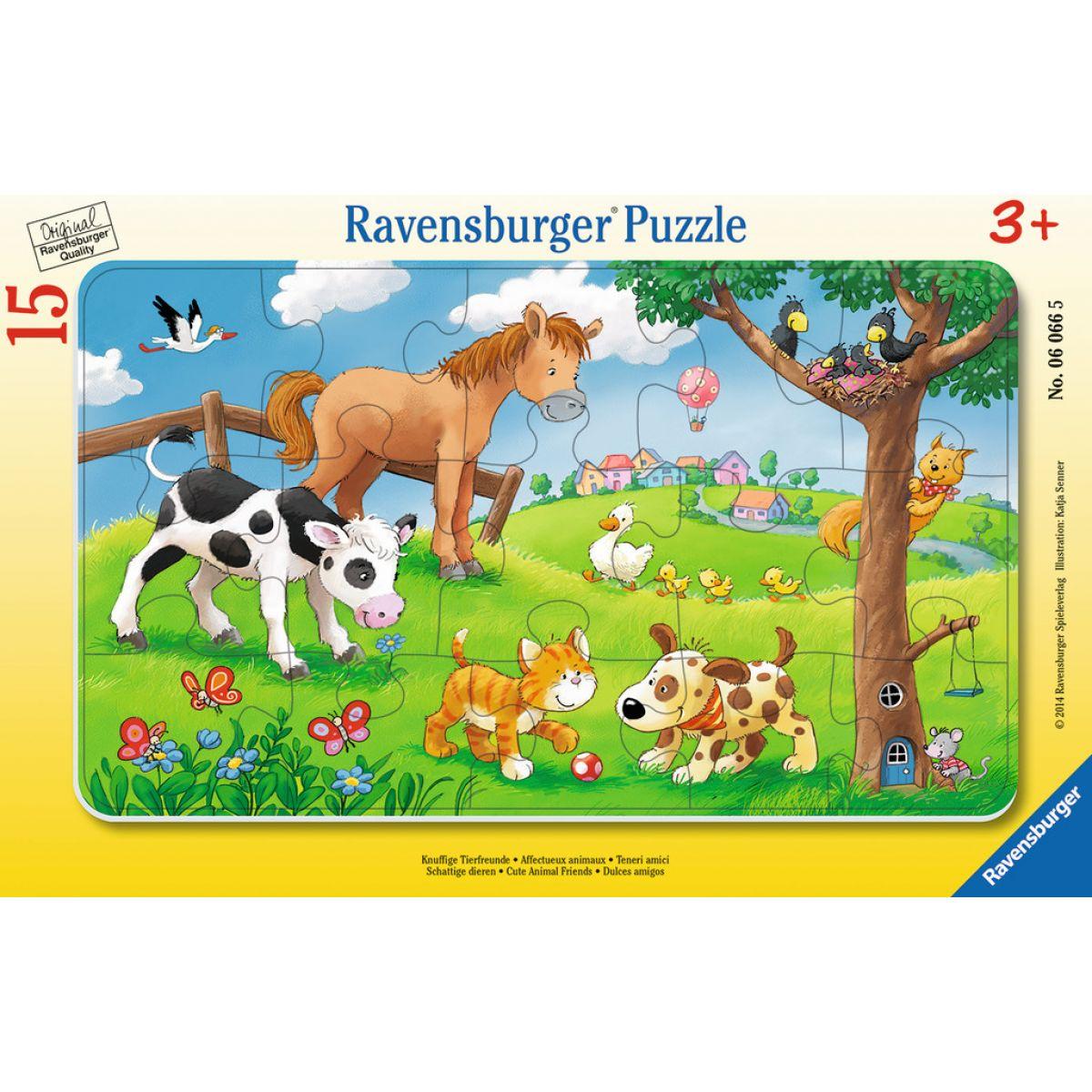 Ravensburger Plyšoví zvířecí kamarádi 15 dílků