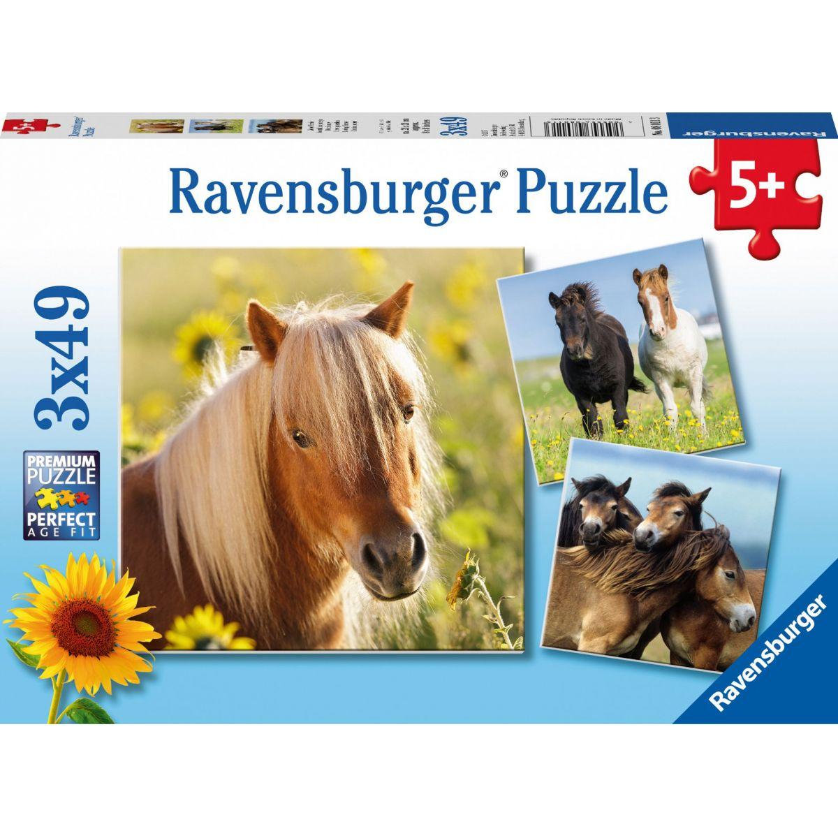 Ravensburger Puzzle Poníky 49 dielikov