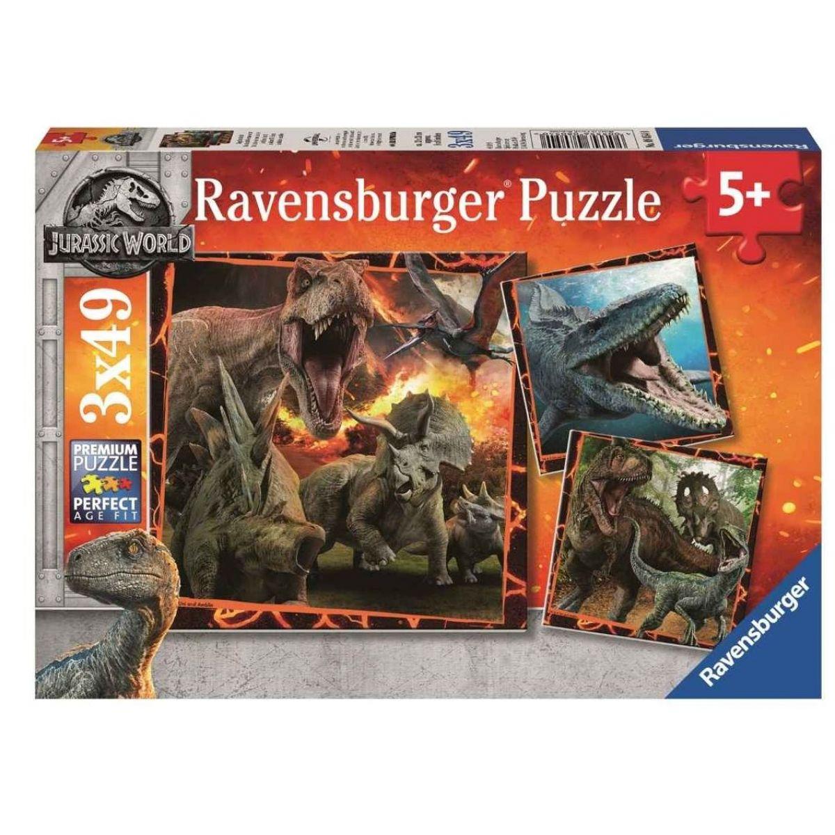 Ravensburger Puzzle Premium Jurský svet Zánik ríše 3 x 49 dielikov