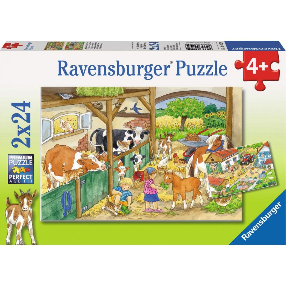 Ravensburger Radostný život na venkově 2 x 24 dílků