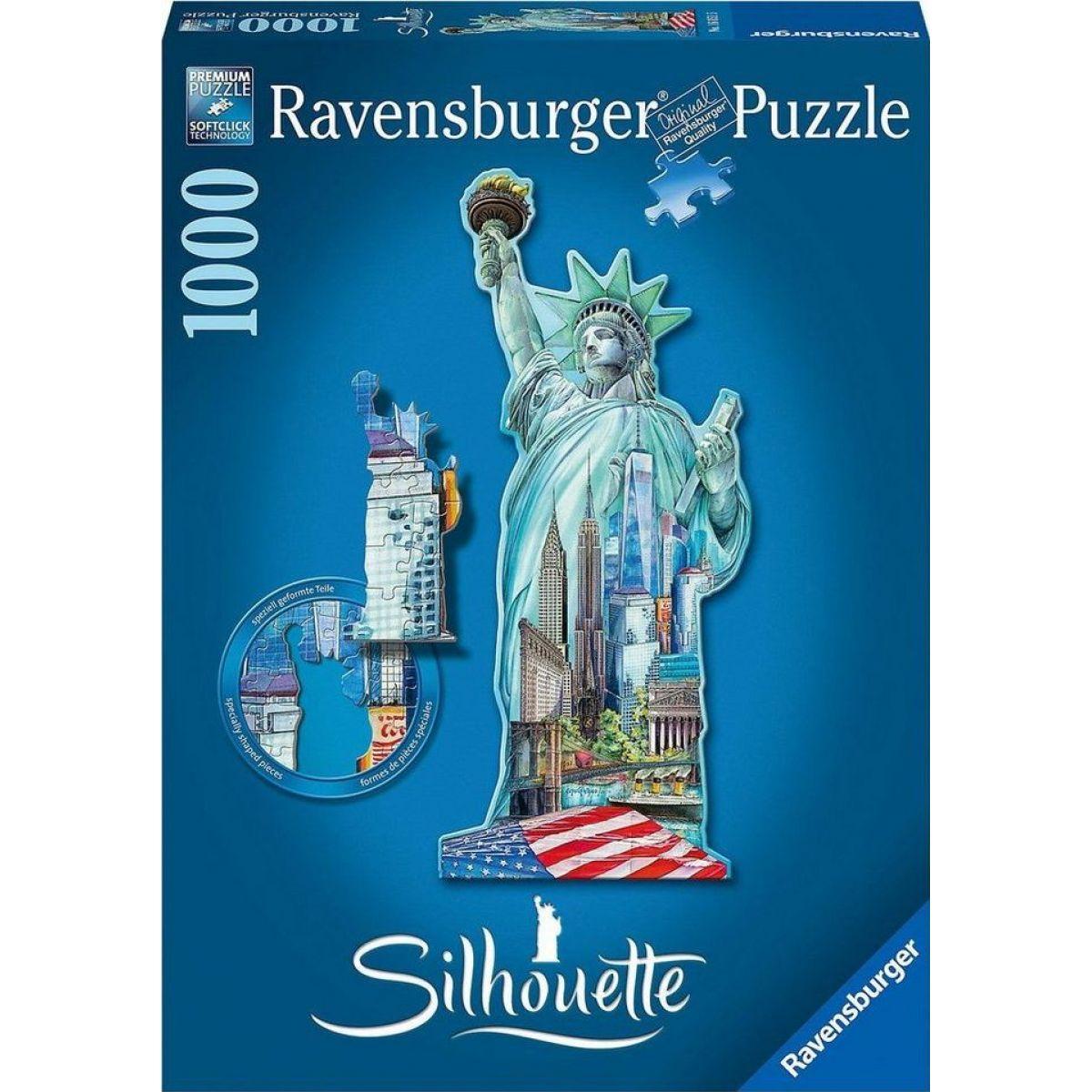 Ravensburger Socha Slobody New York 1000 dielov