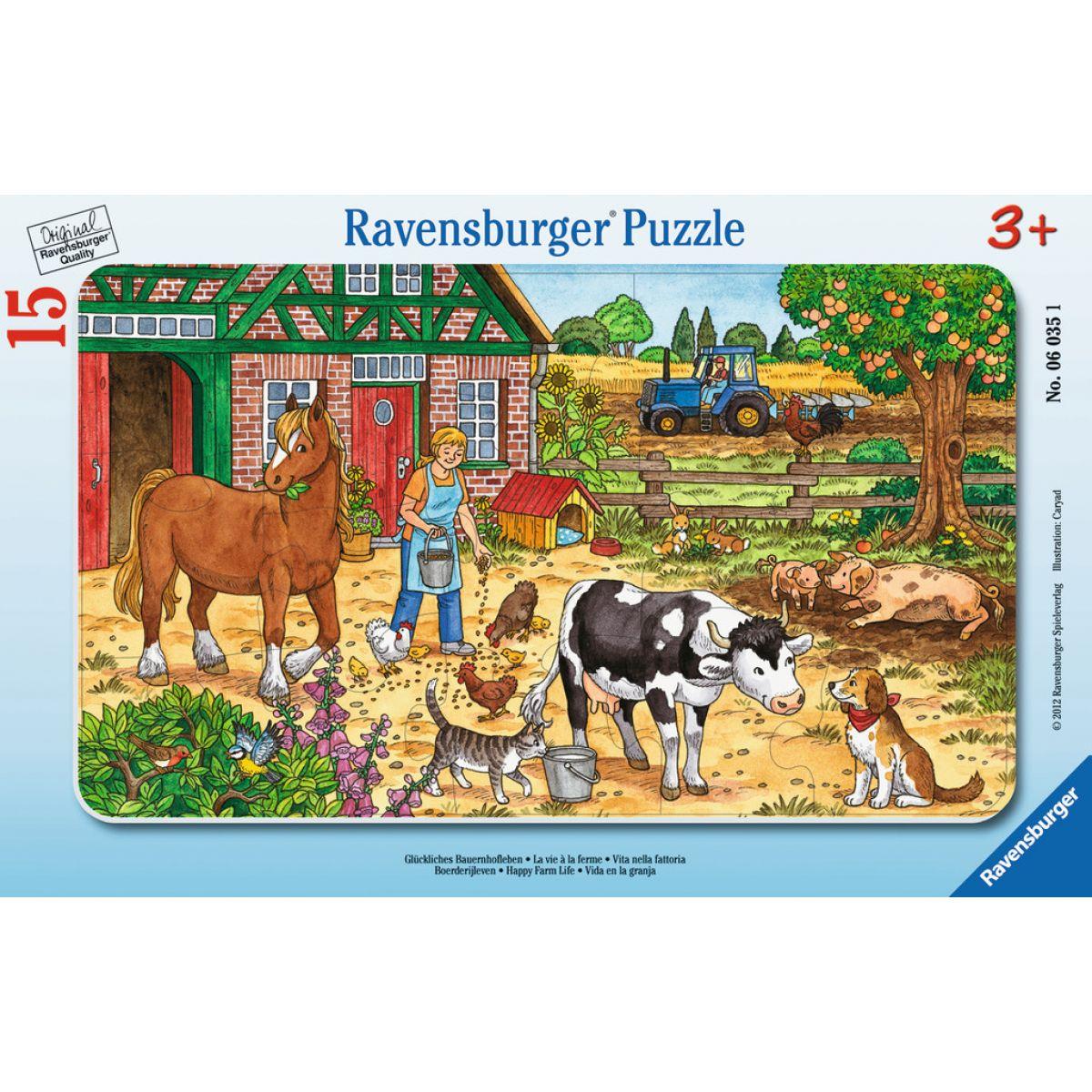 Ravensburger Šťastný život na statku 15 dílků
