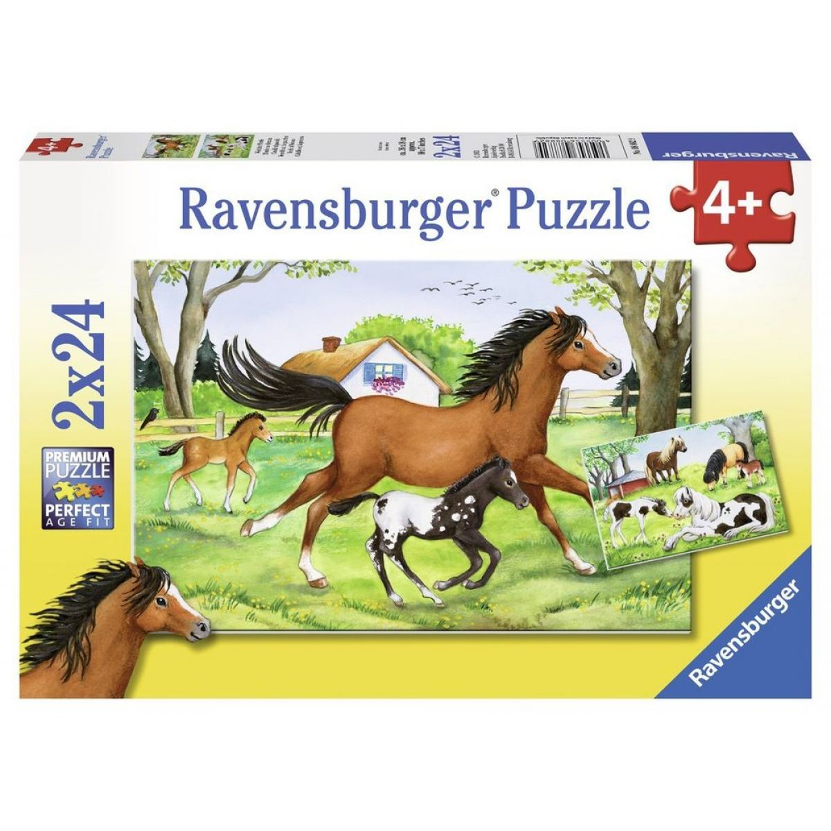 Ravensburger Svet koní 2 x 24 dielikov