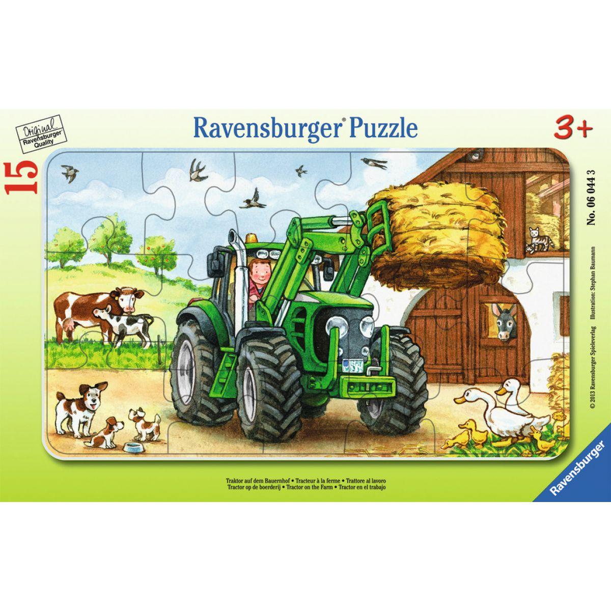 Ravensburger puzzle Traktor na statku 15 dielikov