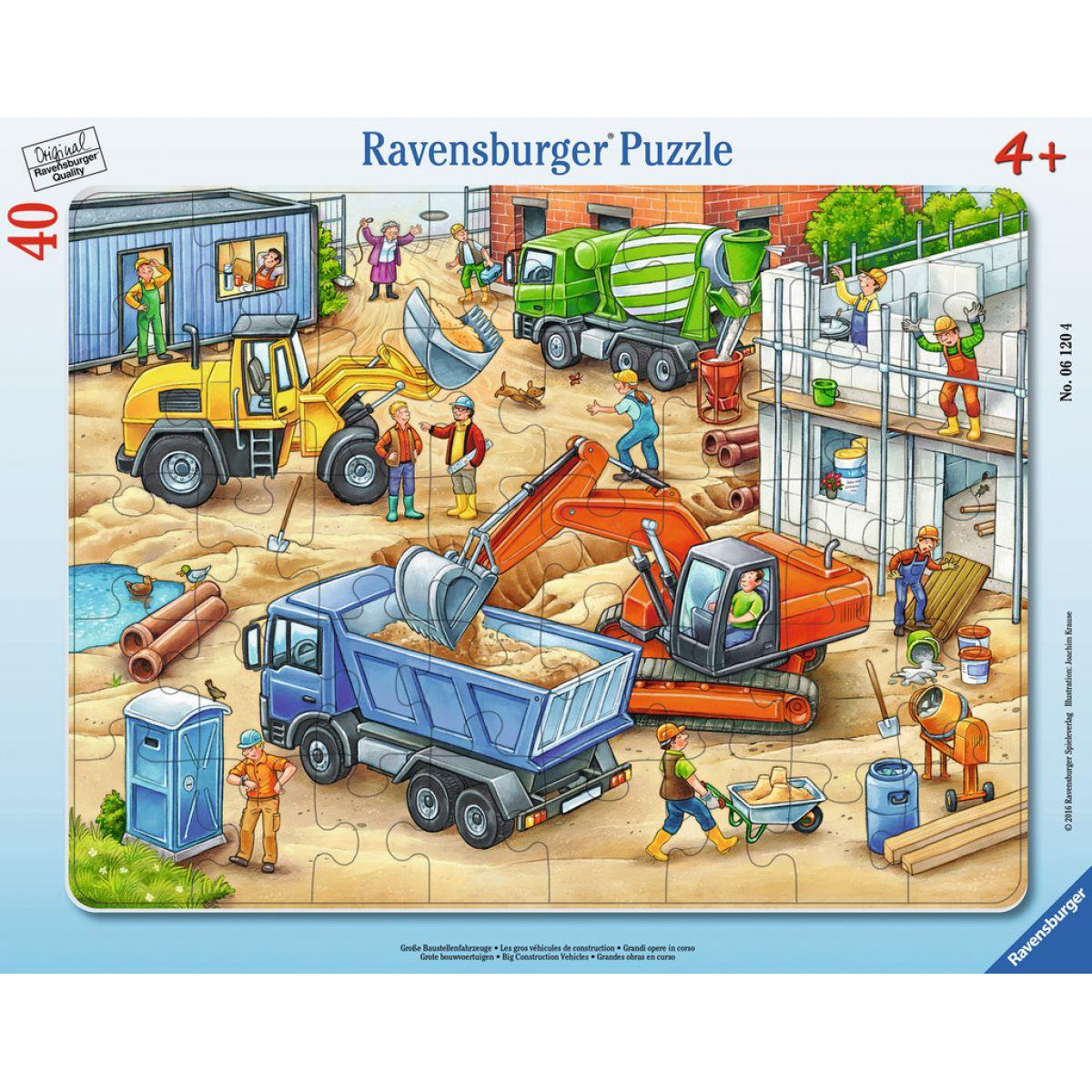 Ravensburger puzzle Veľká konštrukčná vozidlá 40 dielikov