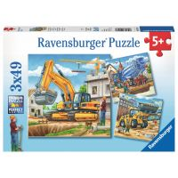Ravensburger Puzzle Veľké nákladné vozidlá 3 x 49 dílků