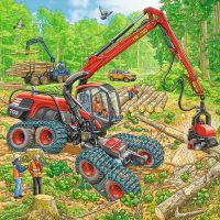 Ravensburger Puzzle Veľké pracovné stroje 3 x 49 dielikov 4