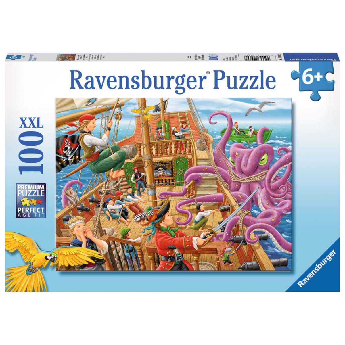 Ravensburger Puzzle XXL Dobrodružstvo na pirátskej lodi 100 dielikov