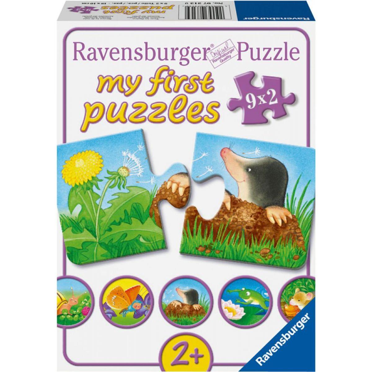 Ravensburger Puzzle Zvieratá na záhrade 9 x 2 dielikov