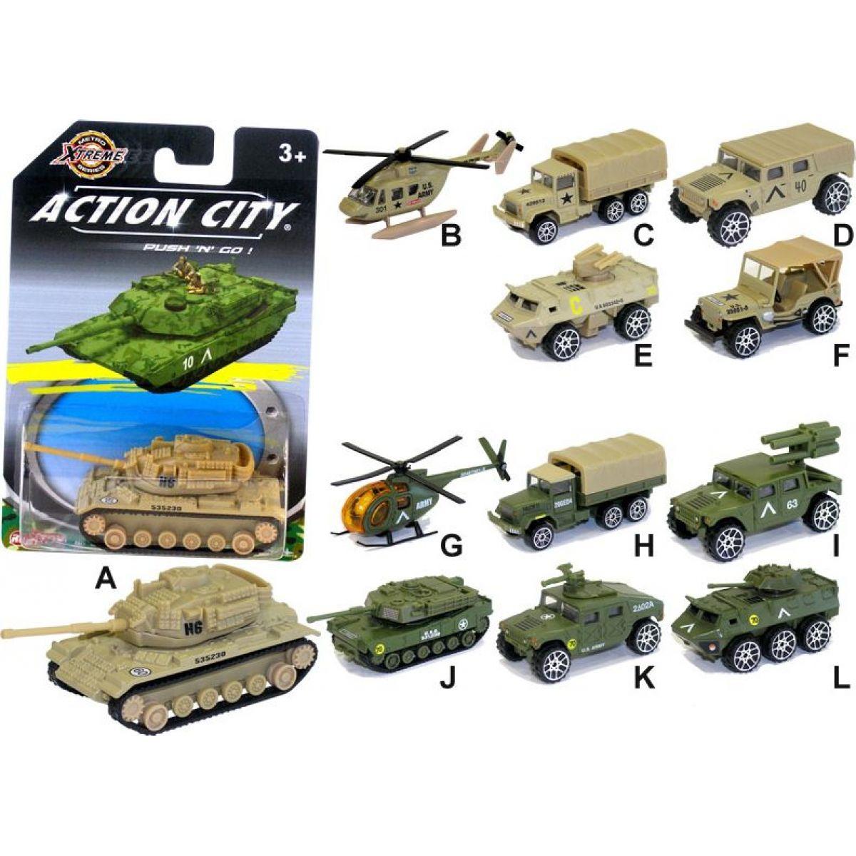 Realtoy Vojenská technika na blistru Tank zelený