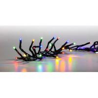 Reťaz svetelný 100 LED 5 m farebná zelený kábel 8 funkcií 2