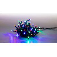Reťaz svetelný 100 LED 5 m farebná zelený kábel 8 funkcií 3