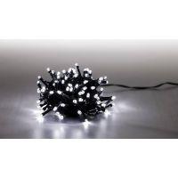 Řetěz světelný 100 LED 5 m studená bílá zelený kabel 8 funkcí