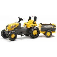 Rolly Toys Šliapací traktor Rolly Junior s Farm vlečkou žltý