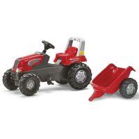 Rolly Toys Šliapací traktor Rolly Junior s vlečkou - červený