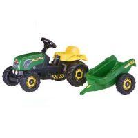 Rolly Toys 012442 - Šliapací traktor Rolly Kid s vlečkou - zelený