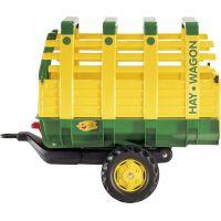 Rolly Toys Vlečka na seno za traktor jednoosá Hay Wagon Zelenožltá