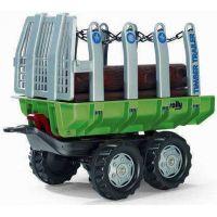 Rolly Toys vlečka s kladami zelená