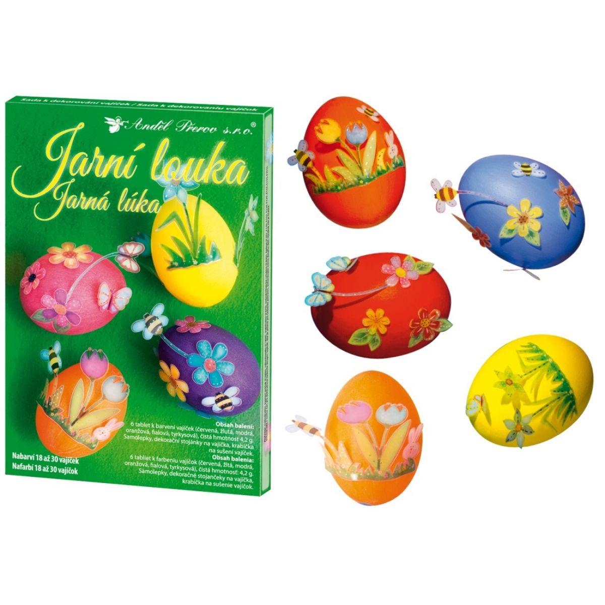 Sada k dekorovanie vajíčok - jarná lúka