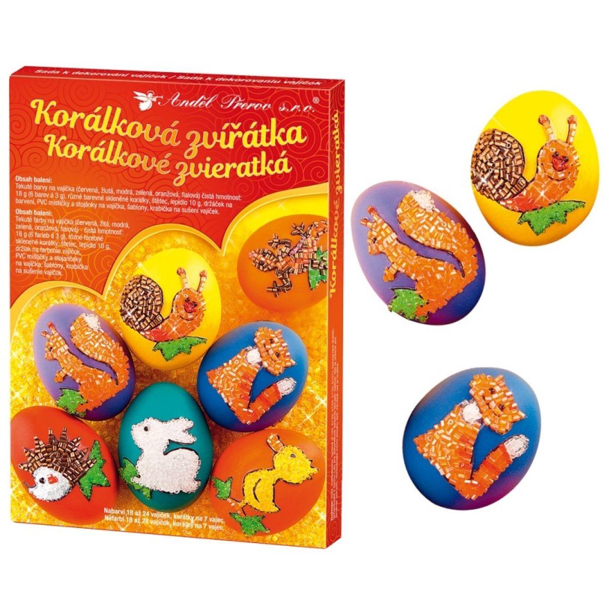 Sada k dekorovanie vajíčok - korálková zvieratka