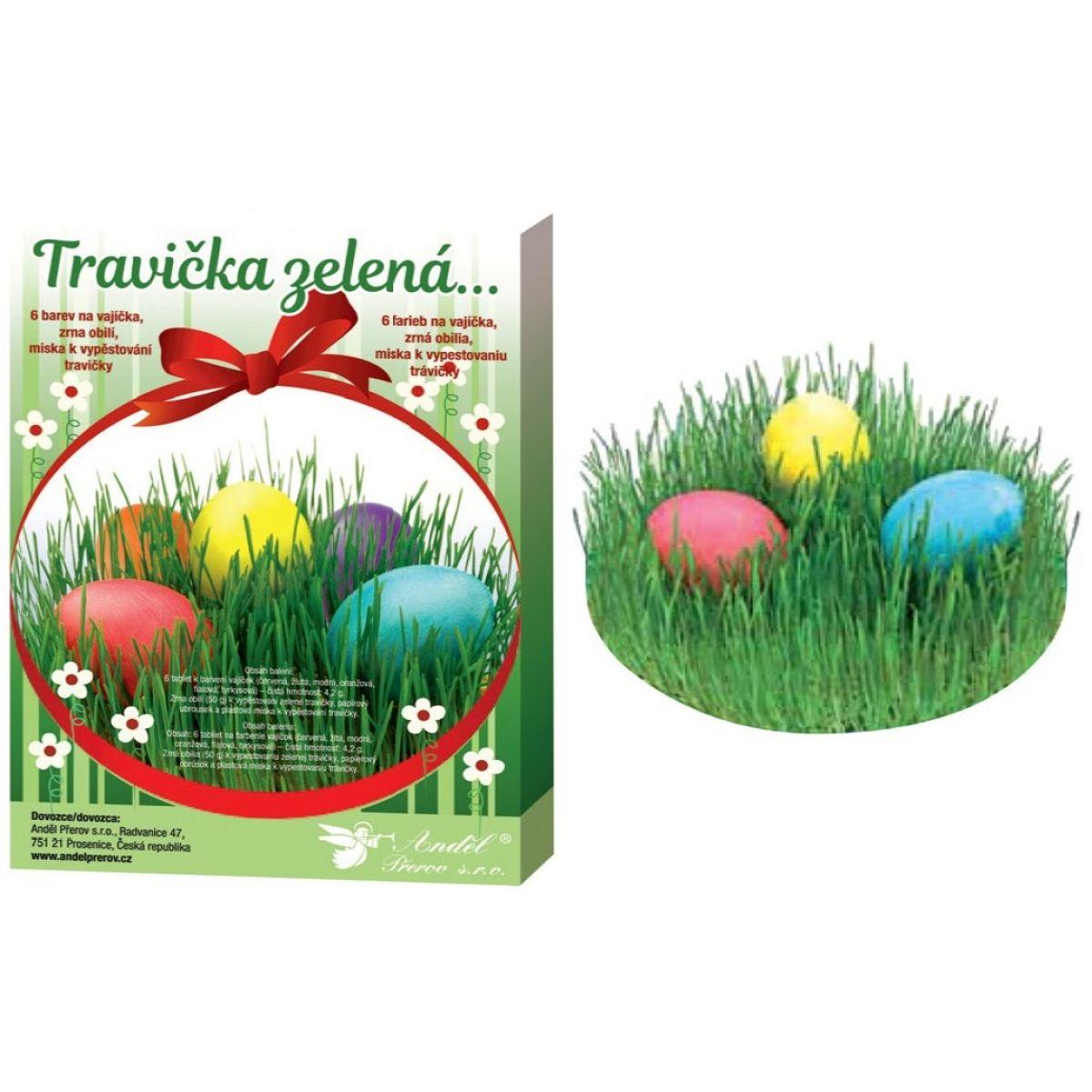 Sada k dekorovanie vajíčok - trávička zelená