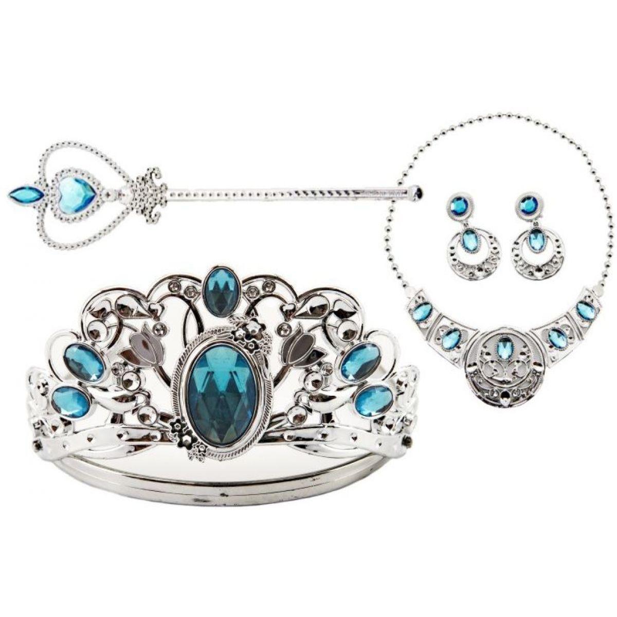 Sada krásy veľká s plastovou korunkou a náhrdelníkom s náušnicami