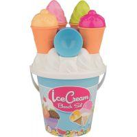 Androni Sada na piesok zmrzlina a cup cake modré vedierko