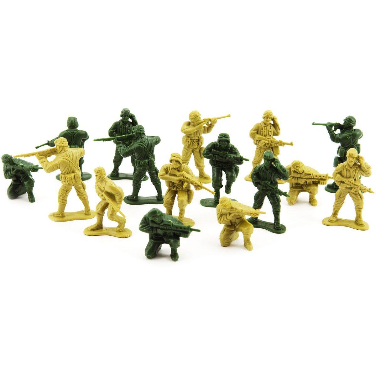 Sada vojaci 2 farby plast CZ dizajn