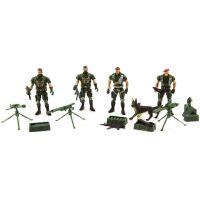 Sada vojáci 4ks s doplňky plast CZ design