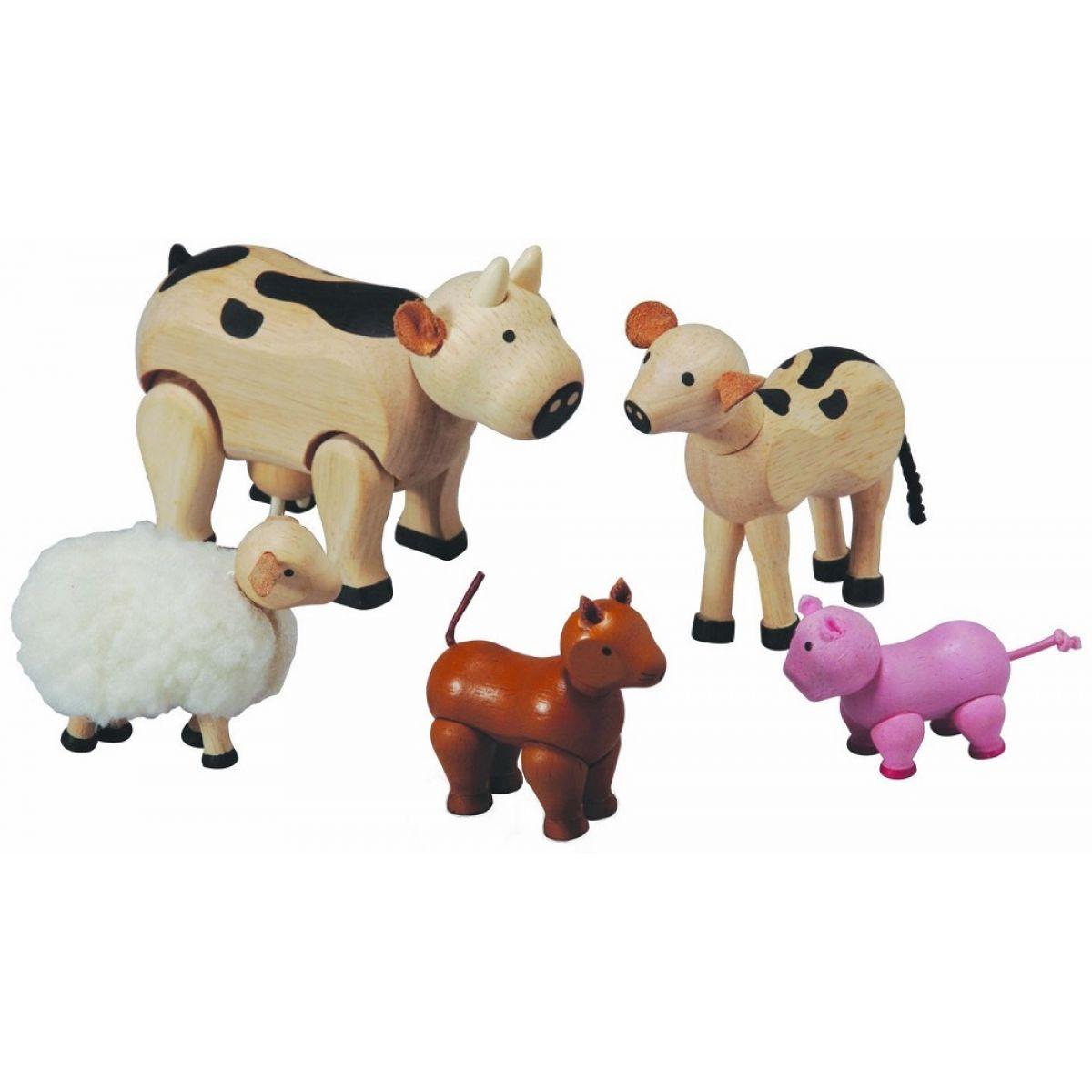 PlanToys Sada zvieratiek k farme 6 dielov