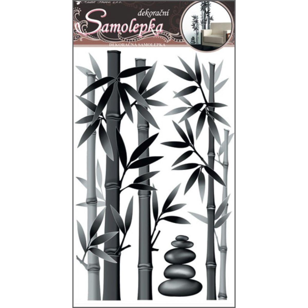Samolepky na stenu bambus šedý 50x32cm