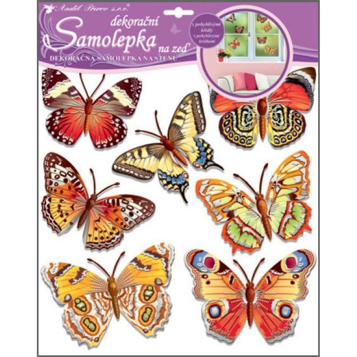 Samolepky na stenu motýle skutoční 30,5 x 30,5 cm (161)