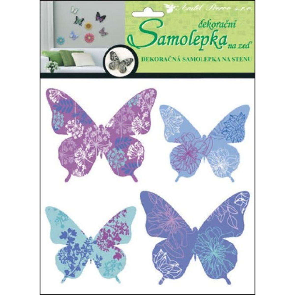 Samolepky na stenu motýle skutoční 30,5 x 30,5 cm