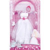 Šaty pre bábiku Steffi Svadobné ružová korunka