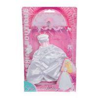 Simba Šaty pre bábiku Steffi svatebné Svetlo ružová korunka