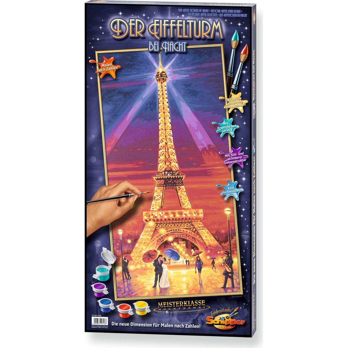 Schipper Hochformat Eiffelova věž v noci 40 x 80cm