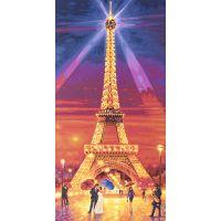 Schipper Hochformat Eiffelova věž v noci 40 x 80cm 2