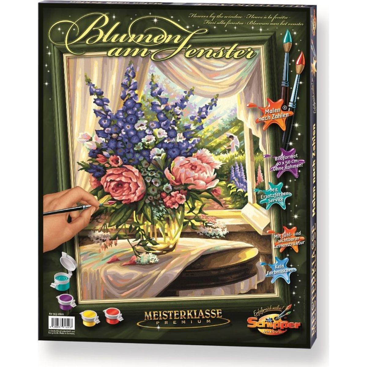 Schipper Premium Květiny u okna 40 x 50cm