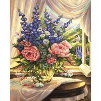 Schipper Premium Květiny u okna 40 x 50cm 2