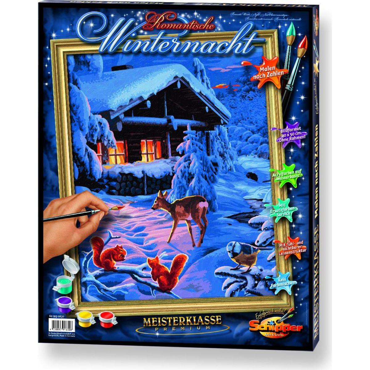 Schipper Premium Romantická zimní noc 40 x 50cm